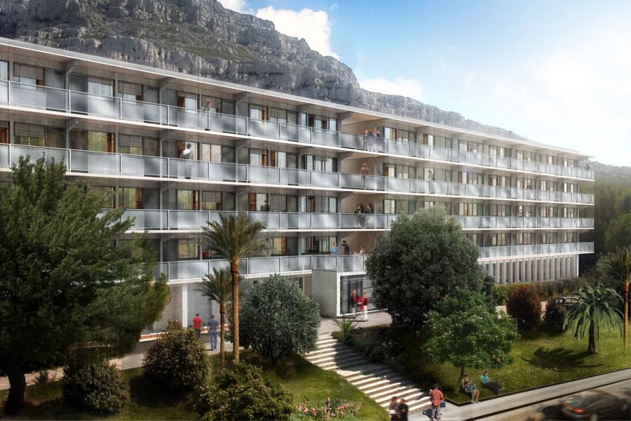 Restructuration d'une residence d'etudiants – Marseille-Luminy