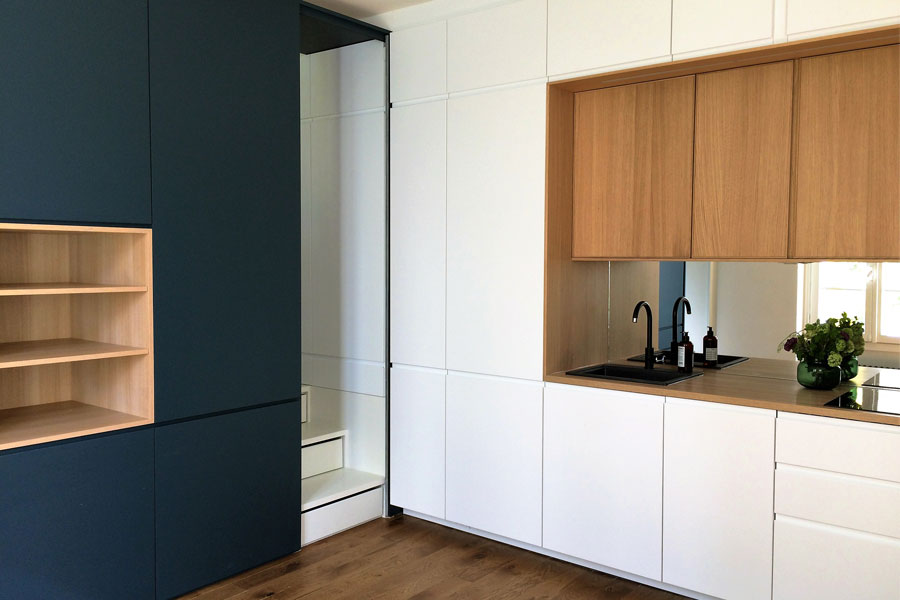 Optimisation d'un appartement de 30m² en Rez-de-jardin