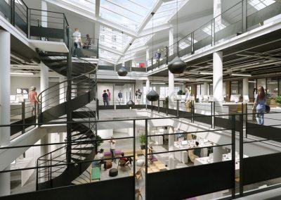 Renovation d'un ensemble de bureaux en coeur d'ilot Batiment principal + Batiment secondaire – EUROSIC